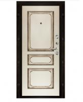 Панели для входных металлических дверей Панель Классика 5 Эмаль слоновая кость патина орех